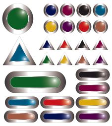 Free Colorful Metal Buttons Royalty Free Stock Photography - 17955757