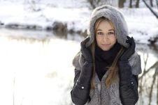 Free Closeup Portrait Of A Pretty Girl Stock Images - 17957264