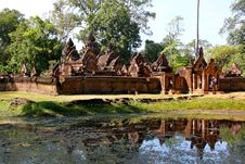 Free Banteay Srei - Angkor Royalty Free Stock Photos - 17957288