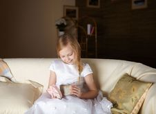 Free Girl With A Present Royalty Free Stock Image - 17957366