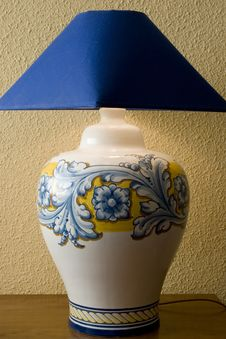 Free Talavera Ceramic Lamp Stock Photo - 17958250