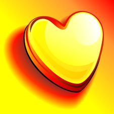 Free Vector Heart Of Gold Stock Images - 17958344