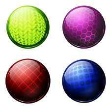 Glossy Balls Stock Photos