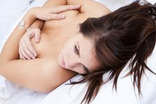 Sensual Woman In Bed Stock Photography