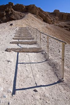 Free The Roman Ramp - Masada Royalty Free Stock Photos - 17959758
