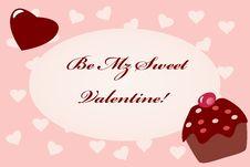 Free Cupcake Heart Valentine Card Stock Photos - 17959883