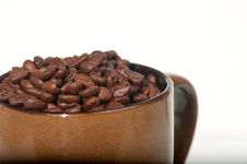 Free Coffee Beans In A Mug Stock Images - 17959914