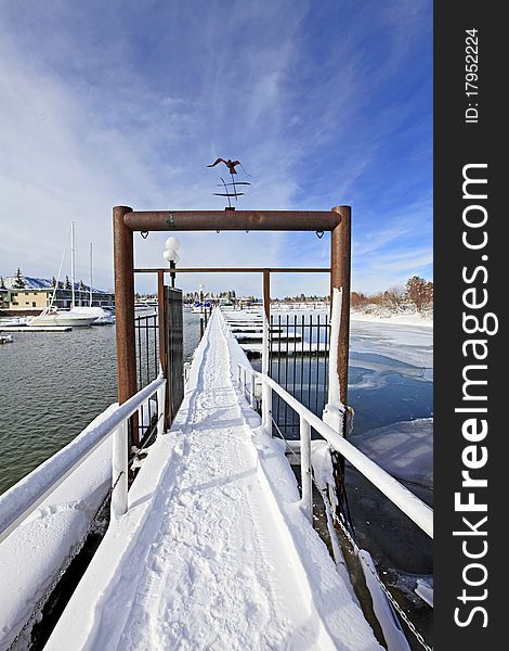Gates and winter marina