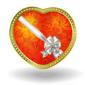 Free Red Heart With Red Floral Ornament Royalty Free Stock Image - 17962936