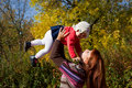 Free A  Woman Holds Her Baby In Her Arms Stock Images - 17965494