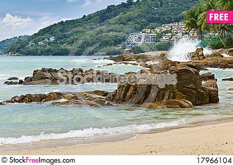 Free Beach Stone Sea , Stock Images - 17966104