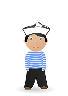 Free Illustration The Cheerful Seaman Stock Photos - 17960043