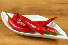 Red Cayenne Peppers Stock Images
