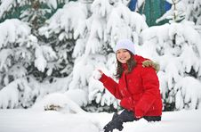 Free Playing In Snow Royalty Free Stock Photo - 17960925