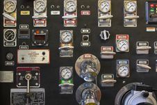 Free Firetruck Pump Panel Stock Photos - 17960993