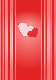 Valentine Card With Stripes Stock Photos