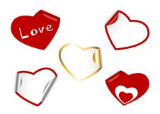 Free Heart Shape Set Of Stickers. Stock Image - 17961411