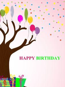 Free Birthday Card Royalty Free Stock Photos - 17961488