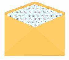 Vintage Envelope With Flower Pattern Inside Stock Images
