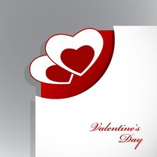 Free Corner Of Paper With Valentine S Stock Photo - 17961660
