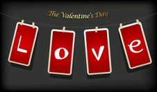 Free Valentine Hanging Labels. Royalty Free Stock Photo - 17961695