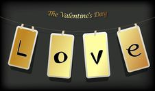 Free Valentine Hanging Labels. Royalty Free Stock Image - 17961776