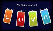 Free Valentine Hanging Labels. Stock Images - 17962024
