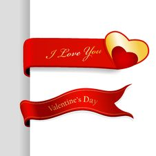 Free Set Of Valentine S Day Ribbons. Stock Photos - 17962373