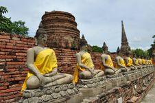 Free Cloister Of Buddha Statue At Wat Yai Chai Mongkon Stock Photo - 17962710