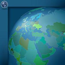 Free Dark Blue Background With Globe Royalty Free Stock Photo - 17962865