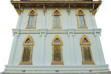 Free Gold Buddhist Monastery Window At Sanamchan Palace Stock Photos - 17963783