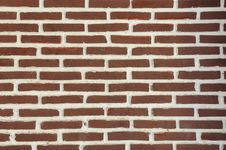 Orange Brick Wall Stock Photography