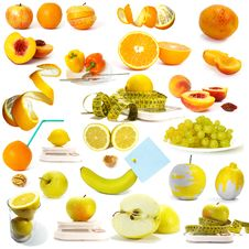 Free Fruits And Juice Royalty Free Stock Photo - 17964905