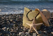 Free A Bonnet, A Bag And A Seastar Stock Photos - 17965633