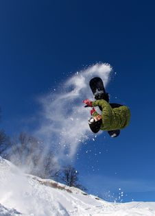 Free Snowboarder In The Sky Stock Photos - 17965673