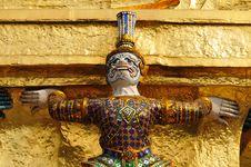 Free Guardian Statue At Wat Phra Kaew Royalty Free Stock Image - 17966096