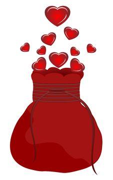 Free Bag Hearts Stock Image - 17966521