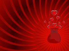 Frame Of Hearts Royalty Free Stock Photography
