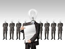 Free Businessman With Lamp-head Have Got An Idea Stock Photography - 17966642