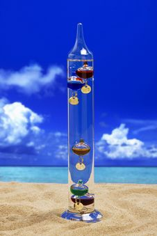 Free Galileo Thermometer. Stock Image - 17966691