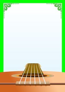 Free Background With A Guitar Stock Images - 17967424