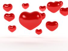Free Big Red Hearts №1 Royalty Free Stock Image - 17967756