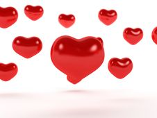 Big Red Hearts №2 Royalty Free Stock Image