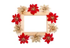 Free Wooden Frame Decorated With Flowers Royalty Free Stock Image - 17967776