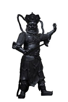 Free Chinese God Statue On White Background Royalty Free Stock Photos - 17967918