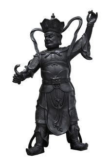 Free Chinese God Statue On White Background Stock Photos - 17968003