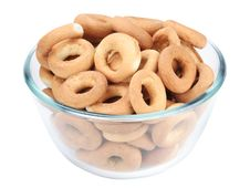 Free Bagels In A Glass Dish Stock Image - 17968111