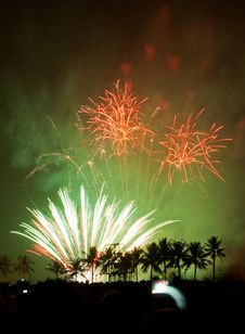 Fireworks Exploding Royalty Free Stock Photos
