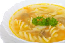 Free Soup With Macaroni And Meat Stock Photos - 17969013