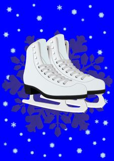 Women S Skates For Figure Skating Royalty Free Stock Photo